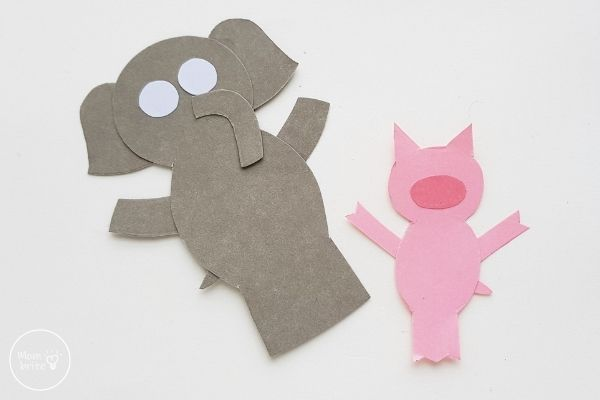 Elephant & Piggie Craft Glue Gerald Eyes