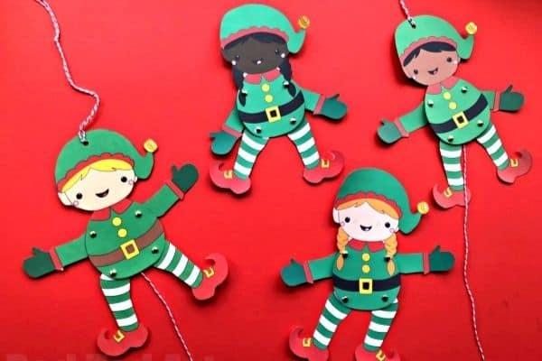 Elf Paper Puppet