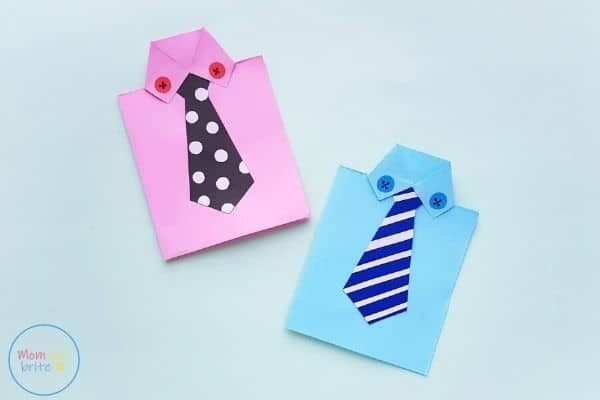 Father's Day Tie Card Craft by Mombrite
