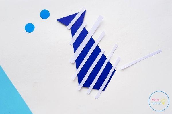 Father's Day Tie Card Glue Stripes to Tie