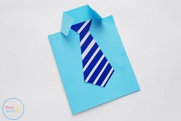 Father's Day Tie Card Glue Tie on Shirt