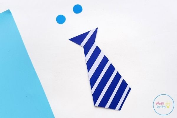 Father's Day Tie Card Trim Stripes