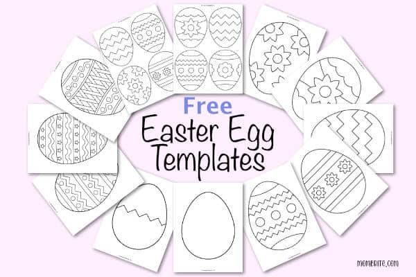 Free Easter Egg Templates Mockup
