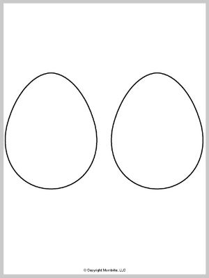 Half Page Blank Egg Template