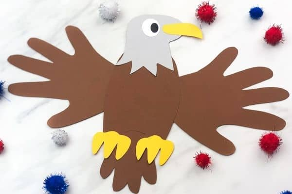 Handprint Eagle Craft