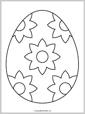 Large Easter Egg Template (5)