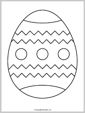Large Easter Egg Template