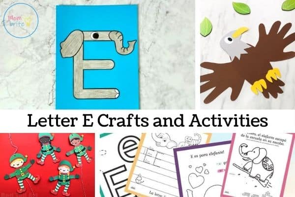 Letter E Crafts and Activities