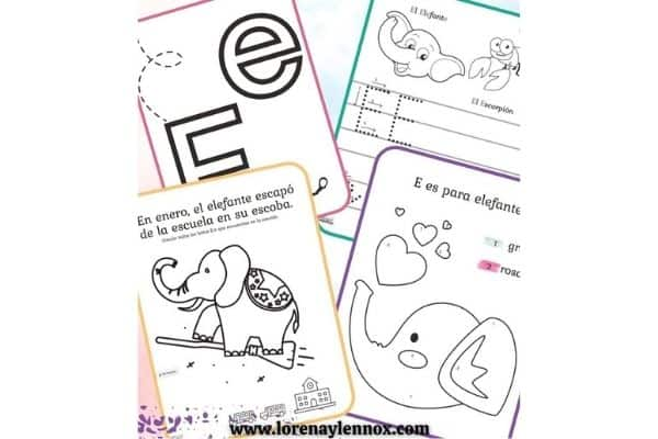 Letter E Printable Spanish Activity