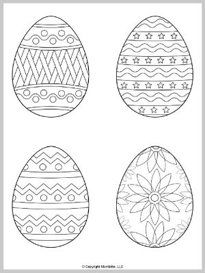 Medium Easter Egg Coloring Page