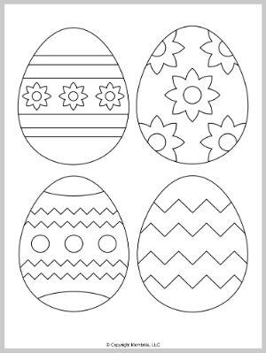 Medium Easter Egg Template