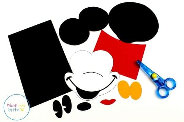 Mickey Mouse Paper Bag Puppet Template Patterns