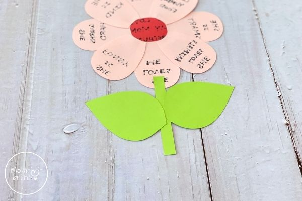 Mother's Day Flower Craft Glue Leaves