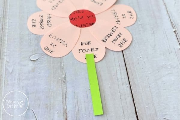 Mother's Day Flower Craft Glue Stem