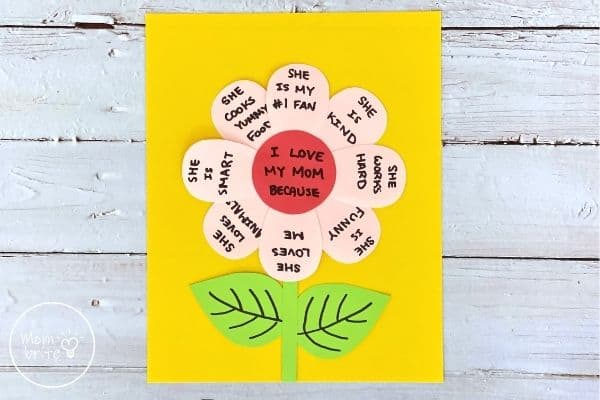 Mother's Day Flower Craft on Paper
