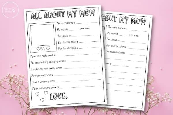 Mother's Day Interview Printable