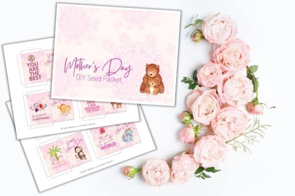 Mother's Day Seed Packet Mockup