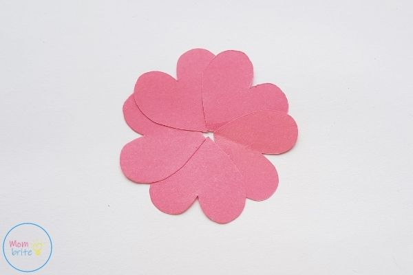 Pop Up Mother's Day Card Finish Heart Flower