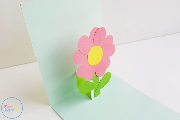 Pop Up Mother's Day Card Glue Flower on Card
