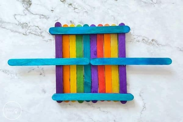 Popsicle Stick Bird Feeder Glue Perches