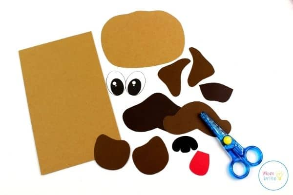 Pug Dog Paper Bag Puppet Craft Template Patterns