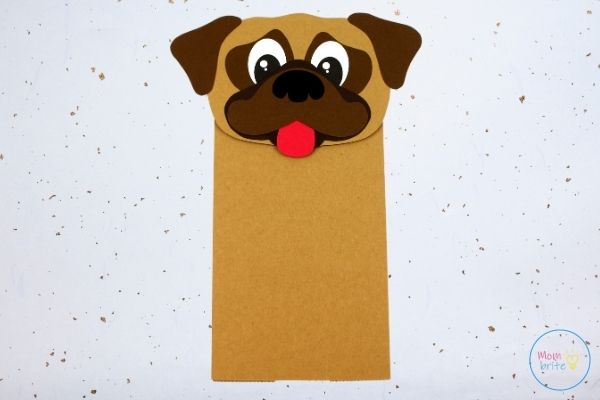 Pug Dog Paper Bag Puppet Craft