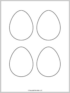 Small Blank Egg Template