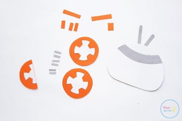 Star Wars Paper Plate BB-8 Craft Glue Antennas om Head