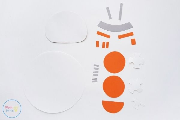 Star Wars Paper Plate BB-8 Craft Template Patterns