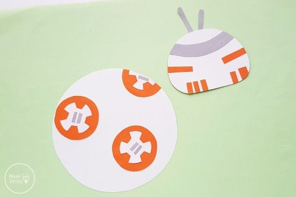 Star Wars Paper Plate BB 8 Craft Trim Panels and Details