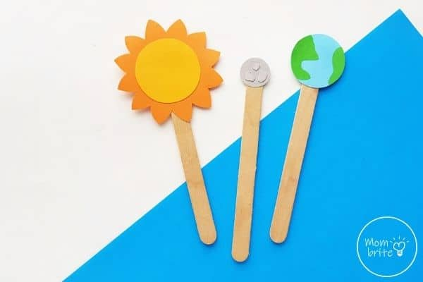 Sun Earth Moon Model Paper Craft