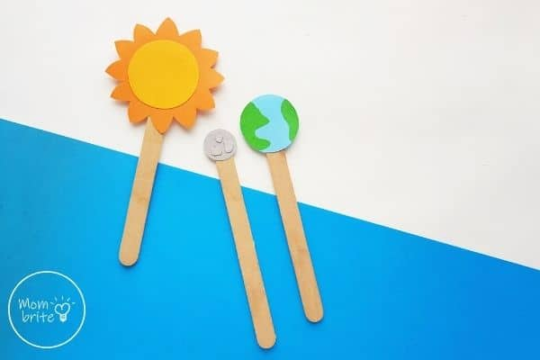 Sun Earth Moon Paper Craft