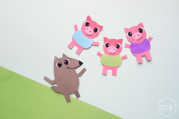 Three Little Pig Finger Paper Crafts