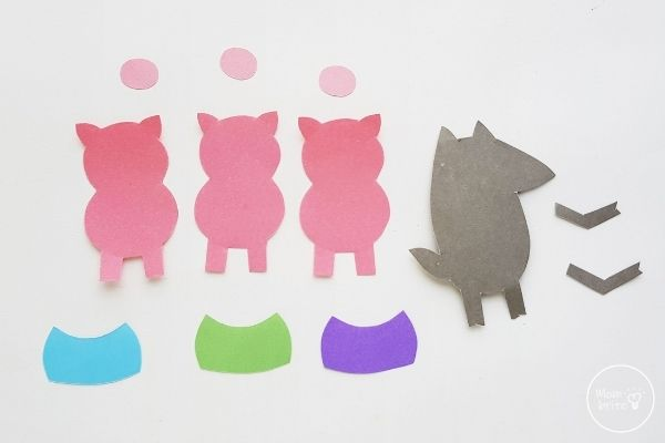 Three Little Pigs Finger Puppets Template Patterns