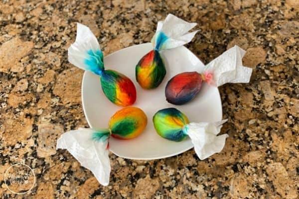 Tie-Dye Easter Eggs Let Dry