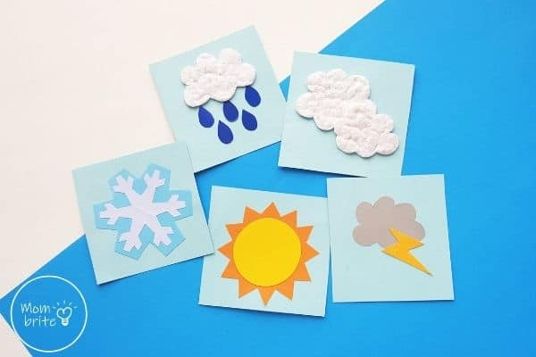 Weather Pattern Cards Craft