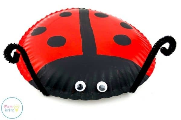 ladybug paper plate craft curl pipe cleaners