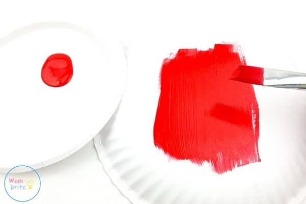 ladybug paper plate craft paint paper plate red