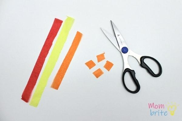 Cut Tissue Paper Squares