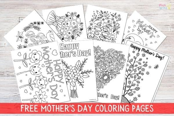 Free Mother's Day Coloring Sheets