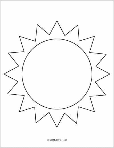 Large Sun Template