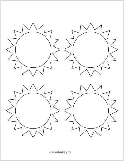 Medium Sun Template Blank