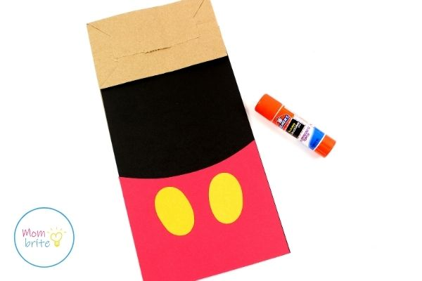Mickey Mouse Paper Bag Puppet Assemble Body