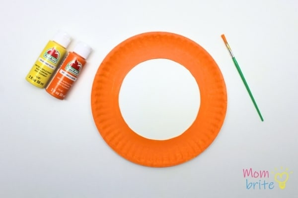 Paint Paper Plate Orange