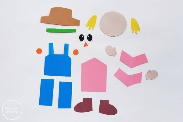 Paper Scarecrow Craft Template Patterns