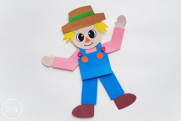 Paper Scarecrow Finished Craft