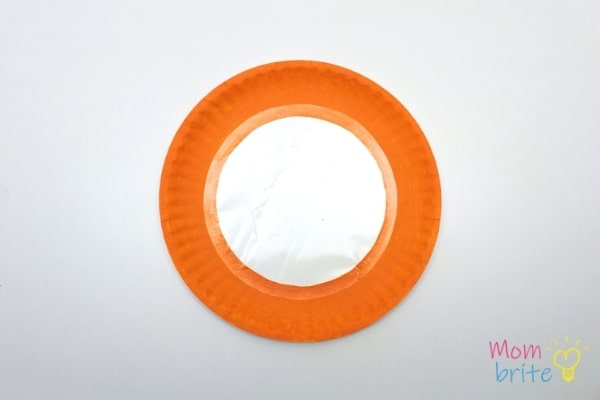 Place Contact Paper on Paper Plate