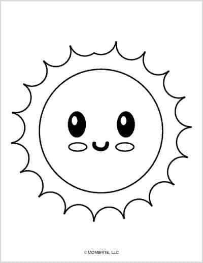 Sun Template Happy Face