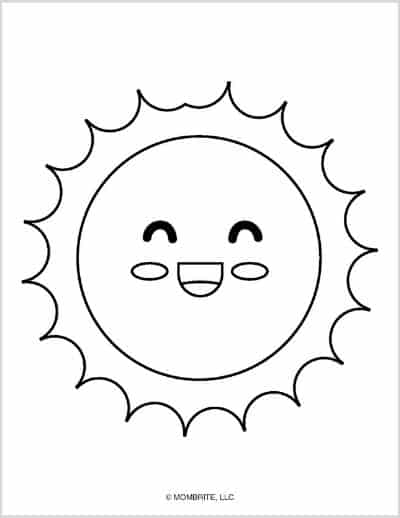 Sun Template Laughing Face