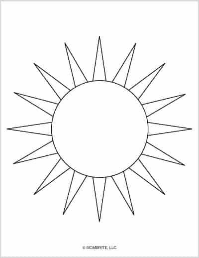 Sun Template Long Triangle Sun Ray